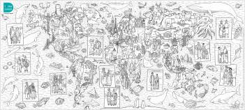 Poster à colorier - La carte du monde