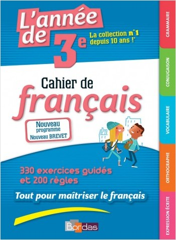 L'année de 3e - Cahier de français
