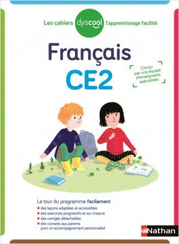 Dyscool - Cahier de Français CE2 - Adapté aux enfants dys ou en difficulté