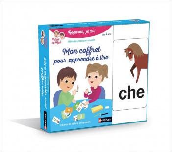Mon coffret pour apprendre à lire - Mila et Noé - 28 jeux de carte - Dès 4 ans