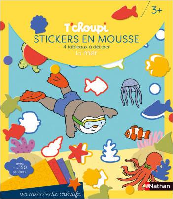 Les mercredis de T'choupi - Stickers mousse de la mer - Dès 2 ans