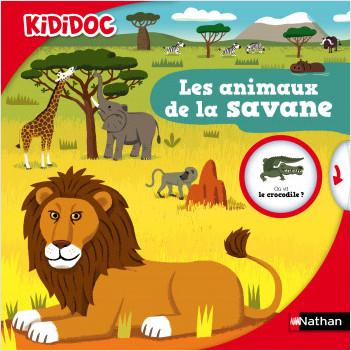Les animaux de la savane - Livre animé Kididoc - Dès 5 ans