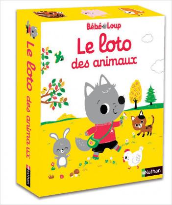 Bébé loup - Le loto des animaux - Jeu d'éveil - Dès 2 ans