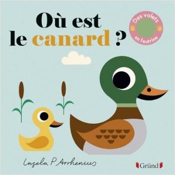 Où est le canard ? – Livre à rabats en feutrine et miroir – À partir de 6 mois