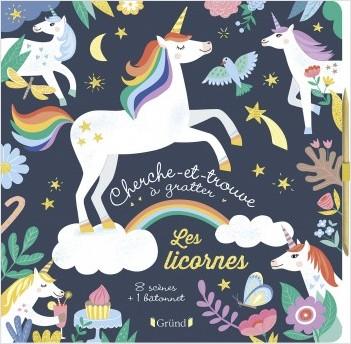 Cherche-et-trouve à gratter - Les licornes