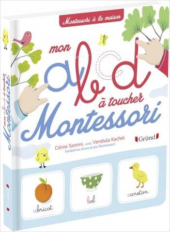 Mon ABCD Montessori – Abécédaire de 75 mots illustrés avec des lettres rugueuses – À partir de 3 ans