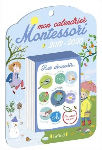 Mon calendrier Montessori 2019 2020