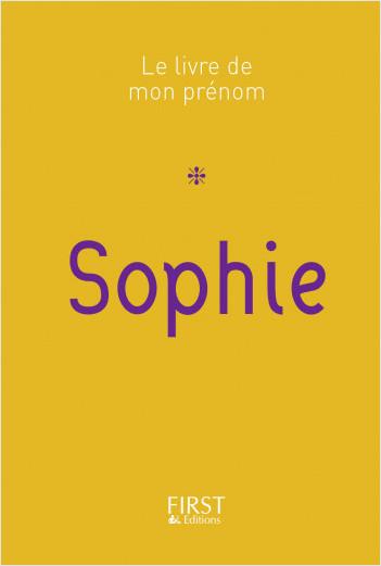 Le Livre de mon prénom - Sophie 19