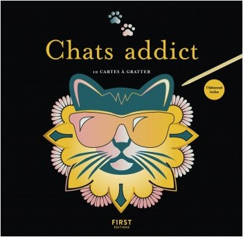 Cartes à gratter - Chats addict