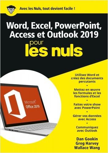 Word, Excel, PowerPoint, Access et Outlook 2019 Mégapoche Pour les Nuls