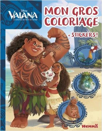 Disney Vaiana - Mon gros coloriage + stickers !