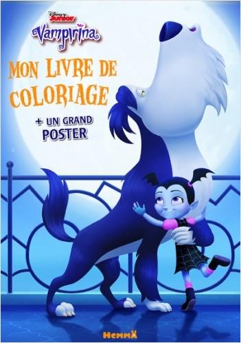 Disney Vampirina - Mon livre de coloriages + un grand poster