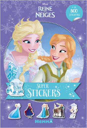 Disney La Reine des Neiges - Super stickers (Fond mauve)