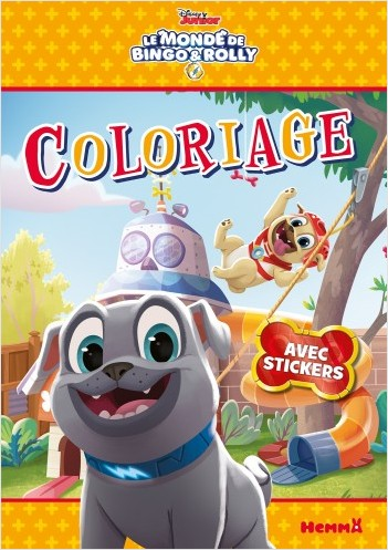 Disney Bingo et Rolly - Coloriage avec stickers