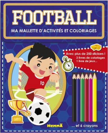Ma mallette d'activités et coloriages - Football (Fond bleu)