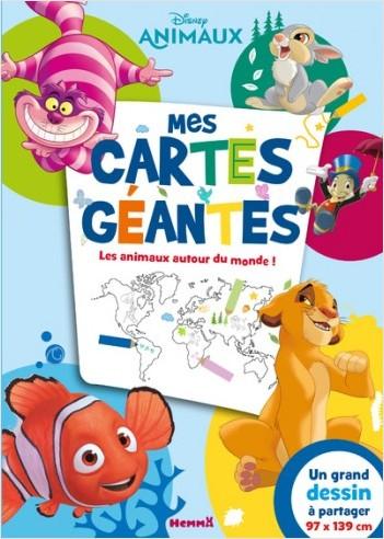 Disney Classics - Mes cartes géantes - Les animaux autour du monde !