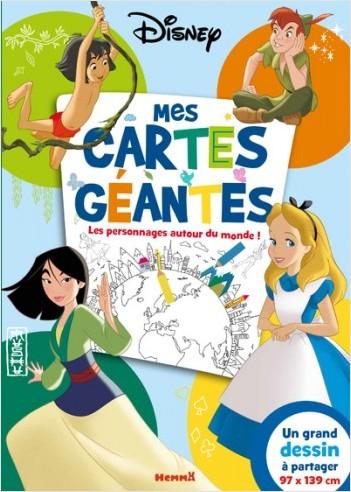 Disney Classics - Mes cartes  géantes - Les personnages autour du monde !