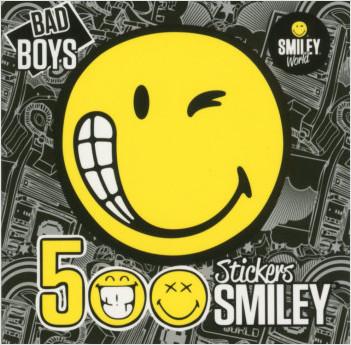 500 Stickers Smiley - BAD BOYS