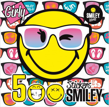 500 Stickers Smiley - GIRLY