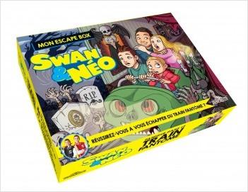 Swan & Néo - Mon escape box - Panique dans le train fantôme - Escape game enfants - De 2 à 6 joueurs - Dès 7 ans