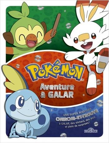 Pokémon - Livre collector - Aventure à Galar - Beau livre de cherche-et-trouve et activités avec des stickers - Dès 6 ans