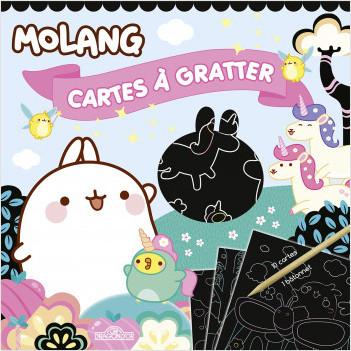 Molang - Cartes à gratter - Licornes - Dès 6 ans