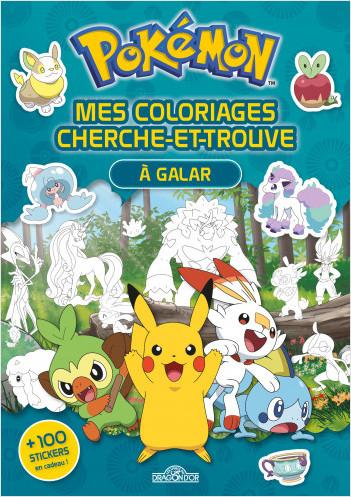 Pokémon - Coloriages cherche-et-trouve - Pikachu à Galar - Avec des stickers - Dès 5 ans