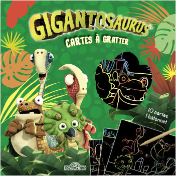 Gigantosaurus – Cartes à gratter – Pochette de 10 cartes à gratter – Dès 3 ans
