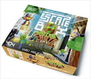 Escape Box Minecraft Earth - Escape game enfant de 2 à 5 joueurs - De 8 à 12 ans
