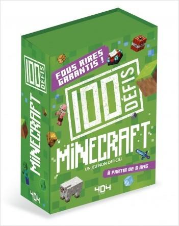 100 Défis Minecraft : un jeu non officiel - Jeu de société/jeu de cartes - Dès 8 ans
