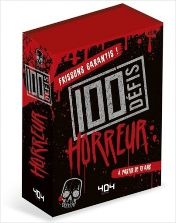 100 Défis Horreur - Jeu de société/jeu de cartes - Dès 13 ans